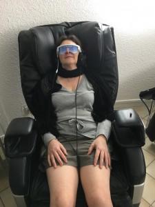 lunettes Psio et fauteuil relaxant